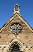 St Mary's Church, Dalkeith, Midlothian. Picture Credit : Neil Sinclair / Scottish Viewpoint  Tel: +44 (0) 131 622 7174  E-Mail : info@scottishviewpoint.com  Web: www.scottishviewpoint.com This photogr... Public, NMR 2012,summer,sunny,building,religion,rose,window,door,doorway