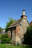 The morthouse at the entrance to the graveyard of St Nicholas Buccleuch Parish Church, Dalkeith, Midlothian. Picture Credit : Chris Robson / Scottish Viewpoint  Tel: +44 (0) 131 622 7174  E-Mail : inf... Public, NMR 2012,summer,sunny,grave,yard,graveyard,graves,body,snatchers,snatching,resurrectionists,mort,house
