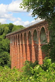 Leaderfoot Viaduct - a former railway viaduct over the River Tweed near Melrose, Scottish Borders. Picture Credit : Jason Baxter / Scottish Viewpoint  Tel: +44 (0) 131 622 7174  E-Mail : info@scottish... Public 2012,summer,sunny,structure,victorian,engineering,historic,scotland,heritage,arch,arches,disused,bridge,countryside