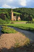 St Mary's Church on a late summer afternoon, Stow, Scottish Borders. Picture Credit : Jason Baxter / Scottish Viewpoint  Tel: +44 (0) 131 622 7174  E-Mail : info@scottishviewpoint.com  Web: www.scotti... Public 2012,sunny,village,scenic,marys,countryside,woodland,river