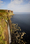 Kilt Rock on the Isle of Skye, Inner Hebrides. Picture Credit : Chris Robson / Scottish Viewpoint  Tel: +44 (0) 131 622 7174  E-Mail : info@scottishviewpoint.com  Web: www.scottishviewpoint.com This p... Public 2010,summer,sunny,dramatic,island,highland,waterfall,cascade,cliff,cliffs,basalt,geological,feature