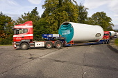 Lorries transport parts of a wind turbine ready for construction. Picture Credit : Laurence Leech / Scottish Viewpoint  Tel: +44 (0) 131 622 7174  E-Mail : info@scottishviewpoint.com  Web: www.scottis... Public summer,sunny,renewables,green,energy,abnormal,load,lorry,trailer,convoy
