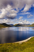 Loch Quoich, Highlands of Scotland. Picture Credit : Laurence Leech / Scottish Viewpoint  Tel: +44 (0) 131 622 7174  E-Mail : info@scottishviewpoint.com  Web: www.scottishviewpoint.com This photograph... Public 2011,summer,sunny,hills,mountains,knoydart,clouds,water,remote