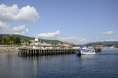 The Argyll Ferries Ali Cat passenger ferry service approaches the pier, Dunoon, Argyll. Picture Credit : Chris Robson / Scottish Viewpoint   Tel: +44 (0) 131 622 7174  E-Mail : info@scottishviewpoint.... Public 2011,summer,sunny,firth,clyde,town,transport,boat,victorian