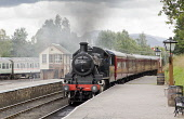 Strathspey Steam Railway at Boat of Garten, Highlands of Scotland. Picture Credit : Mike Clarke / Scottish Viewpoint   Tel: +44 (0) 131 622 7174  E-Mail : info@scottishviewpoint.com  This photograph c... Public 2011,summer,heritage,attraction,visitor,tourist,platform,station,signal,box,engine