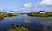 The West Coast of the Isle of Barra, Outer Hebrides. Picture Credit : Mike Clarke / Scottish Viewpoint   Tel: +44 (0) 131 622 7174  E-Mail : info@scottishviewpoint.com  This photograph cannot be used... Public 2010,summer,sunny,bay,coast,coastal,calm,reflection,western,isles,island,cottage,house