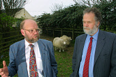 Scientists Professor Ian Wilmut (left) and Dr Harry Griffin, at the Roslin Institute near Edinburgh where they developed and created Dolly, the world's first cloned sheep (pictured).  Photograph � Col... Colin McPherson