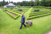 A gardener working in the Kitchen Garden in the grounds at Mount Stuart, the historic seat of the Marquis of Bute on the Scottish island of Bute. The castle's new visitor centre will be opened by Lord... Colin McPherson