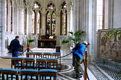 Visitors in the magnificent family chapel at Mount Stuart, the historic seat of the Marquis of Bute on the Scottish island of Bute. The castle's new visitor centre will be opened by Lord Attenborough... Colin McPherson