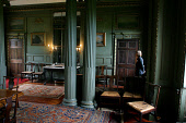 A member of staff at Newhailes House in Musselburgh, East Lothian, in drawing room of the house which will be open to the public for the first time tomorrow following its purchase by the National Trus... Colin McPherson