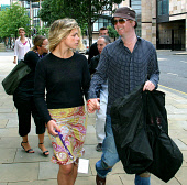 EDINBURGH, SCOTLAND, UNITED KINGDOM: Controversial media owner and television presenter Chris Evans, arrives at the Edinburgh international Television Festival with his wife Billie Piper, where he out... Colin McPherson