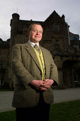 Skibo Castle, Dornoch, Sutherland, Scotland: Butler James Allen outside the Carnegie Club at the Castle.  Photograph � Colin McPherson, 09/04/02. Tel. +44 (0)1968 661644 or 07831 838717. Colin McPherson