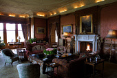 Skibo Castle, Dornoch, Sutherland, Scotland: An interior view of the drawing room of the castle which houses the members only Carnegie Club.  Photograph � Colin McPherson, 09/04/02. Tel. +44 (0)1968 6... Colin McPherson