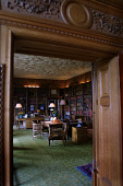 Skibo Castle, Dornoch, Sutherland, Scotland: An interior view of the library of the castle which houses the members only Carnegie Club.  Photograph � Colin McPherson, 09/04/02. Tel. +44 (0)1968 661644... Colin McPherson