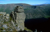 LOOKING DOWN TO A GRANITE BUTTRESS ABOVE LOCH EINICH IN THE CAIRNGORM MOUNTAINS, HIGHLAND. PIC: PETER CAIRNS/SCOTTISH VIEWPOINT Tel: +44 (0) 131 622 7174   Fax: +44 (0) 131 622 7175 E-Mail : info@scot... PUBLIC, NMR SUNNY,SUMMER,CAIRNGORMS,MOUNTAIN,GEOLOGICAL FEATURE