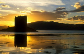 LOOKING ACROSS LOCH LAICH (AN INLET OFF LOCH LINNHE) OVER TO THE SILHOUETTE OF CASTLE STALKER- DATING FROM THE 15C WHEN IT WAS ORIGINALLY BUILT FOR JAMES IV, ARGYLL & BUTE. PIC: PETER CAIRNS/SCOTTISH... PUBLIC, NMR ARCHITECTURE,BUILDING,HERITAGE,SUMMER,WATER,SUNNY,ATMOSPHERIC,PORT APPIN