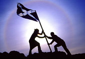 The saltire flag being raised in EdinburghPIC: GARETH EASTON/ SCOTTISH VIEWPOINTTel: +44 (0) 131 622 7174  Fax: +44 (0) 131 622 7175E-Mail : info@scottishviewpoint.comThis photograph can not be used w... PUBLIC, NMR