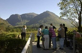 (today 10/2/03) Glencoe Visitor Centre in Scotland has won a Gold Green Tourism Business Award in recognition of its commitment to the environment...pictures shows tourists at the centre in the Scotti... POLITICS