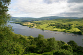 Fish farm cages for artificially rearing salmon, situated in Loch Awe, Argyll, seen from the slopes of of Ben Cruachan. PIC: Colin McPherson/SCOTTISH VIEWPOINT Tel: +44 (0) 131 622 7174   Fax: +44 (0)... FISHING,MOUNTAIN