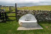 The memorial bench erected at Isle of Whithorn, Dumfries and Galloway, Scotland in memory of the fishermen who lost the lives with the sinking of the scallop dredger Solway Harvester in January 2000....