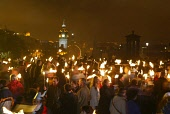 REVELLERS IN THE TORCHLIGHT PROCESSION  ON CALTON HILL TO KICK OF THE HOGMANAY CELEBRATIONS, EDINBURGH. 29/12/02 PIC: GARY DOAK/SCOTTISH VIEWPOINT Tel: +44 (0) 131 622 7174   Fax: +44 (0) 131 622 7175...