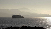 Lord of the Isles the  Caledonian MacBrayne (CalMac) ferry arrives at Armadale on the Isle of Skye from Mallaig the Knoydart hills are in the background. Picture ALLAN MILLIGAN/SCOTTISH VIEWPOINT Tel:... BOATS,TRANSPORT,ISLANDS,ISLAND