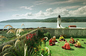 Story by Jean West for Monday 30/09/02. *NO COPYING/ARCHIVING OF THIS PHOTOGRAPH PERMITTED: Monks and nuns at the Holy Island retreat off Arran, where 12 women from around the world are going into ret... Colin McPherson