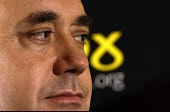Alex Salmond MP  on the impeachment of Tony Blair prior to  academic  Dan Plesch delivering The Donaldson Lecture  at the 70th Scottish National Party (SNP) conference in Eden Court Theatre, Inverness... POLITICS