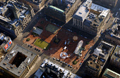 AN AERIAL VIEW OF GEORGE SQUARE, GLASGOW. PIC: FRANK PETERS/SCOTTISH VIEWPOINT Tel: +44 (0) 131 622 7174   Fax: +44 (0) 131 622 7175 E-Mail : info@scottishviewpoint.com This photograph can not be used... ARCHITECTURE,SUNNY,FAIRGROUND,CITY,BUILDINGS,BIG WHEEL