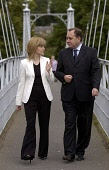 Alex Salmond MP   SNP leaderand Nicola Sturgeon MSP SNP deputy leader of the  Scottish National Party  walk over a River Ness bridge to the   Eden Court Theatre conference venue in Inverness. The 70th... POLITICS