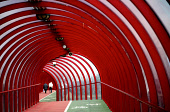 AN OLD COUPLE MAKE THEIR WAY THROUGH THE BRIDGE OVER THE CLYDESIDE EXPRESSWAY, GLASGOW. PIC:IAIN MCLEAN/SCOTTISH VIEWPOINT Tel: +44 (0) 131 622 7174   Fax: +44 (0) 131 622 7175 E-Mail : info@scottishv... ABSTRACT SHAPES,TUNNEL,OLD COUPLE,OLD AGE,IAIN MCLEAN,GLASGOW ABSTRACT VIEW,CLYDESIDE EXPRESSWAY,BRIDGE