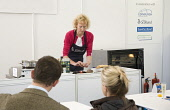 SUE LAWRENCE, FOOD WRITER AND AUTHOR  SPECIALISING IN SCOTTISH FOOD, COOKING AND BAKING  - DEMONSTRATES COOKING HER RECIPES IN FRONT OF AN AUDIENCE AT  'TASTE OF EDINBURGH'  - JUNE 2008. PIC: Paul Tom... 2008,FOOD,EVENT,INTERIOR,COOKING,DEMONSTRATION,COOKERY