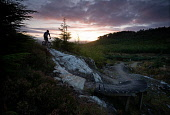 A MOUNTAIN BIKER ON THE BLACK ROUTE  - PART OF THE BALBLAIR MOUNTAIN  BIKE TRAILS (FORESTRY COMMISSION)  NEAR BONAR BRIDGE, SUTHERLAND, HIGHLANDS OF SCOTLAND. SEPTEMBER 2008PIC: P.TOMKINS/VisitScotlan... Public, MR BIKES,BICYCLE,CYCLE,HELMET,SPORT,ACTIVITY,FUN,ACTIVE,AUTUMN