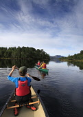 OPEN (CANADIAN) CANOEING IN GLEN AFFRIC, HIGHLANDS OF SCOTLAND. Pic: Paul Tomkins / VisitScotland / Scottish Viewpoint Tel: +44 (0) 131 622 7174 Fax: +44 (0) 131 622 &175 E-Mail: info@scottishviewpoin... Public, MR 2009,SUMMER,CANOE,CANOEIST,PEOPLE,ACTIVITY,GROUP,BOOTS,PADDLES,LOCH,WATER,HIGHLAND,SUNNY