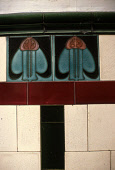 A DETAIL OF DECORATIVE TILES TYPICAL TO TENEMENT STAIRS IN GLASGOW. PIC: VisitScotland/SCOTTISH VIEWPOINT Tel: +44 (0) 131 622 7174   Fax: +44 (0) 131 622 7175 E-Mail : info@scottishviewpoint.com This... DESIGN,STYLE,CLOSE