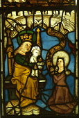 A DETAIL OF A STAINED GLASS WINDOW IN THE BURRELL COLLECTION ART GALLERY SET IN POLLOK GROUNDS, SOUTH WEST OF GLASGOW CITY CENTRE. PIC: VisitScotland/SCOTTISH VIEWPOINT Tel: +44 (0) 131 622 7174   Fax... HERITAGE,EXHIBITION,DISPLAY,ARCHITECTURE