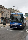 A Stagecoach bus for Aberdeen in the High Street , Forres, Moray.  Picture Credit : Paul Tomkins / VisitScotland / Scottish Viewpoint Tel: +44 (0) 131 622 7174   Fax: +44 (0) 131 622 7175 E-Mail : inf... Public 2011,summer,transport,service,local,stop,bustop,mercat,cross