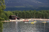 Loch Morlich Watersports - an activity centre with cafe on Loch Morlich, Cairngorm National Park, Highlands of Scotland. Picture Credit : Paul Tomkins / VisitScotland / Scottish Viewpoint Tel: +44 (0)... Public 2011,summer,activities,hills,hill,mountain,mountains,cairngorms,beach,sand,sandy,people,children,family,families,water,sports,canoe,canoes,canoeing,boat,boats