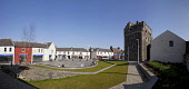 Castle Square, Stranraer, Dumfries & Galloway. A regenerated public space in the town centre. Castle of St John (A Medieval Tower House) on RHS Picture Credit : Paul Tomkins / VisitScotland / Scottish... Public Public,Art,Performance,Space,Spring,2012,Panoramic