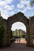 Culzean Castle and Country Park near Maybole, South Ayrshire.   Picture Credit : Paul Tomkins / VisitScotland / Scottish Viewpoint   Tel: +44 (0) 131 622 7174  E-Mail : info@scottishviewpoint.com  Thi... Public 2012,summer,sunny,attraction,visitor,tourist,building,architecture,national,trust,scotland,nts,arch,entrance,people,couple,walk,walking