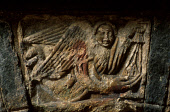 A DETAIL OF THE ELABORATE STONE WORK OF A TOMB TO BE FOUND IN ST. CLEMENT'S CHURCH (DATING FROM THE 16C) AT RODEL- A VILLAGE AT THE SOUTH END OF SOUTH HARRIS, OUTER HEBRIDES. PIC: PAUL TOMKINS/VisitSc... HISTORIC SCOTLAND,ISLAND,ANGEL,MASONRY,CARVING,RELIGION,BUILDING,ARCHITECTURE,HERITAGE
