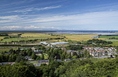 The view from the top of  Nelson's Tower, Forres - over part of Forres towards Findhorn Bay, Moray.  Picture Credit : Paul Tomkins/ VisitScotland / Scottish Viewpoint   Tel: +44 (0) 131 622 7174  E-Ma... Public 2012,summer,sunny,town,housing,rooftops,fields,coast,firth,countryside