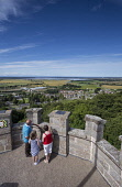 The view from the top of  Nelson's Tower, Forres - over part of Forres towards Findhorn Bay, Moray.  Picture Credit : Paul Tomkins/ VisitScotland / Scottish Viewpoint   Tel: +44 (0) 131 622 7174  E-Ma... Public, MR 2012,summer,sunny,town,housing,rooftops,fields,coast,firth,countryside,people,family,child,children,girl