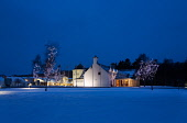 The House of Bruar near Blair Atholl, Perthshire.  Picture Credit : Paul Tomkins / VisitScotland / Scottish Viewpoint   Tel: +44 (0) 131 622 7174  E-Mail : info@scottishviewpoint.com  This photograph... Public 2013,winter,dusk,evening,atmospheric,snow,cold,christmas,decorations,xmas,building,architecture,floodlit,light,lights,shop,shopping,retail,specialised