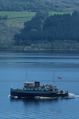 """LOOKING TO THE BAY AT DRUMNADROCHIT WHERE THE PLEASURE CRUISER, """"THE JACOBITE QUEEN"""" SAILS ON LOCH NESS, HIGHLAND. PIC: P.TOMKINS/VisitScotland/SCOTTISH VIEWPOINT Tel: +44 (0) 131 622 7174   Fax: +44... BOAT,SUNNY,TRIP,SUMMER,WATER"""