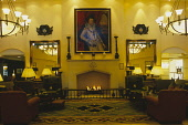 LOOKING OVER THE PLUSH FURNISHINGS OF THE LOBBY OF THE FAIRMONT ST. ANDREWS, BAY HOTEL- A GOLF RESORT AND SPA ON THE OUTSKIRTS OF ST. ANDREWS, FIFE. PIC: P.TOMKINS/VisitScotland/SCOTTISH VIEWPOINT Tel... 2003,WELCOME WELCOMING,VENUE,OIL PAINTING,LUXURIOUS,INTERIOR,HOSPITALITY,FURNITURE,FIREPLACE FIRE