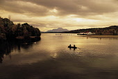 """A GUIDED CANADIAN CANOE TRIP (ORGANISED BY """"CAN YOU EXPERIENCE"""" OUTDOOR ACTIVITIES BASED AT LOMOND SHORES) ON LOCH LOMOND, WITH BEN LOMOND (A MUNRO AT 3195') VISIBLE,  ARGYLL. PIC: P.TOMKINS/VisitScot... 2003,PADDLE STEAMER,MOUNTAINS,MOUNTAIN,MAID OF THE LOCH,HILLS,HILL,CANOEING,AUTUMN,ATMOSPHERIC,ACTIVITY"""