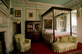 THE LUXURIOUS FURNISHINGS OF ONE OF THE GUEST BEDROOMS IN KELBURN CASTLE- A 16C STRUCTURE WITH LATER ADDITIONS AND THE SEAT OF THE EARLS OF GLASGOW, SET IN KELBURN COUNTRY CENTRE, SOUTH EAST OF LARGS,... HERITAGE,BUILDING,ARCHITECTURE,INTERIOR,ANTIQUE,PICTURE,FOUR POSTER BED,OIL PAINTING