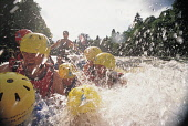 ENJOYING AN EXHILARATING AFTERNOON ON THE RIVER TAY IN AN INFLATABLE RAFT WITH SPLASH WHITE WATER RAFTING - A COMPANY BASED AT ABERFELDY OFFERING A VARIETY OF ADVENTURE ACTIVITIES, PERTHSHIRE.PIC: P.T... Public, NMR