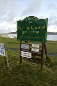 SIGN BOARDS AT THE ISLE OF HARRIS GOLF CLUB AT THE SCARISTA GOLF COURSE, SCARISTA, ISLE OF HARRIS, OUTER HEBRIDES.  PIC: P.TOMKINS/VisitScotland/SCOTTISH VIEWPOINT Tel: +44 (0) 131 622 7174   Fax: +44... ACTIVITY,WESTERN ISLES,SPORT,SIGNAGE,REMOTE,AUTUMN